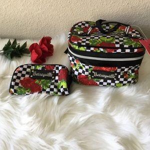 Betsey Johnson-Betseyville Checker Board Bag Set
